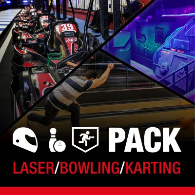 PACK Karting/Bowling/Laser Adultos